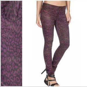 Diesel Skinny Jeans Purple Animal Print Stretchy